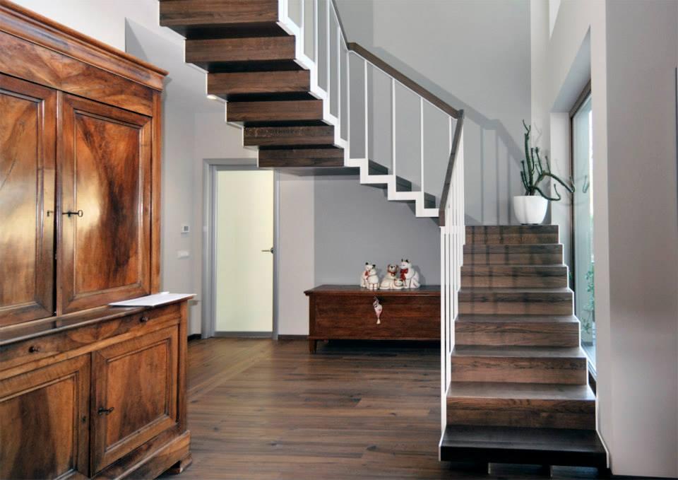 scale interne in legno e ferro lineascale